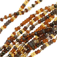 Jablonex Czech Glass Seed Beads Size 11/0 (Wheatberry Mix,  (1 Hank))