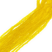 Czech Seed Beads Matte Yellow, 11/0  (1 Hank)