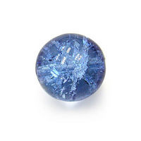 Czech Glass Druk 6mm Round Crackle Sapphire Blue (50)