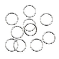 Silver Plated Open Jump Rings 8mm 18 Gauge (100)