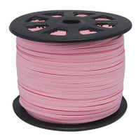 Faux Leather Suede Beading Cord, Pink Bulk Roll , 300 Feet (100 Yards)