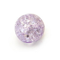 Czech Glass Druk 6mm Round Crackle Lt Amethyst (50)