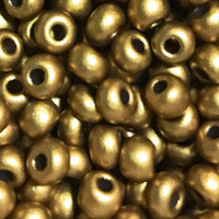 Czech Seed Beads 6/0 Dark Gold Metallic (1 ounce)
