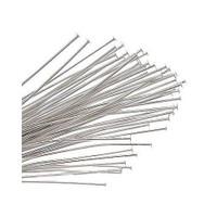 UnCommon Artistry®  Sterling Silver Head Pins 24 Gauge (24GA) 1.5 Inches (50 pins)