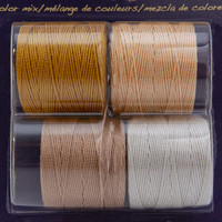 Super-Lon Cord - Honey Butter Mix - Four 77 Yard Spools /Size 18 Cord