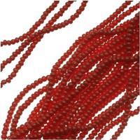 Czech Seed Beads 11/0 Dark Red Opaque (1 hank)