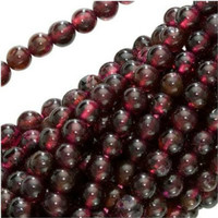 "UnCommon Artistry Genuine Garnet Gemstone Beads 8mm Round (15"" strand)"