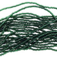 Czech Seed Beads 11/0 Translucent Dk Emerald Green (1 hank)