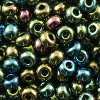 Czech Seed Beads 6/0 Green Iris (1 ounce)