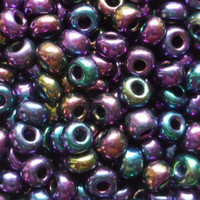 Czech Seed Beads 6/0 Purple Iris (1 ounce)