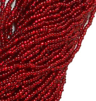 Czech Seed Beads Ruby Silver Lined 11/0  (1 Hank)