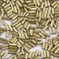 Czech Bugle Beads Size 2 Metallic Gold Opaque (24 Grams)
