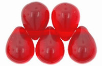Czech Glass Beads 6mm Teardrop Siam Red (50)