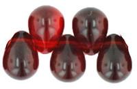 Czech Glass Beads 9mm Teardrop Garnet (50)