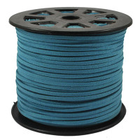 Faux Leather Suede Beading Cord, Dark Teal Bulk Roll , 300 Feet (100 Yards)