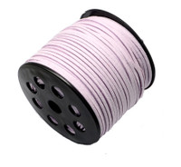Faux Leather Suede Beading Cord, Lavender Bulk Roll , 300 Feet (100 Yards)