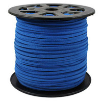 Faux Leather Suede Beading Cord, Royal Blue Bulk Roll , 300 Feet (100 Yards)
