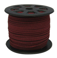 Faux Leather Suede Beading Cord, Burgundy Bulk Roll , 300 Feet (100 Yards)