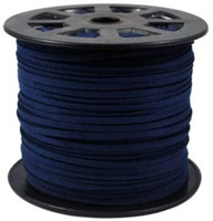 Faux Leather Suede Beading Cord, Navy Blue Bulk Roll , 300 Feet (100 Yards)