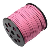 Faux Leather Suede Beading Cord, Dusty Rose Bulk Roll , 300 Feet (100 Yards)