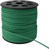 Faux Leather Suede Beading Cord, Green Bulk Roll , 300 Feet (100 Yards)