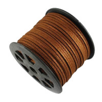 Faux Leather Suede Beading Cord, Metallic Copper Bulk Roll , 300 Feet (100 Yards)