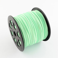 Faux Leather Suede Beading Cord, Spring Green Bulk Roll , 300 Feet (100 Yards)