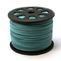Faux Leather Suede Beading Cord, Turquoise Bulk Roll , 300 Feet (100 Yards)