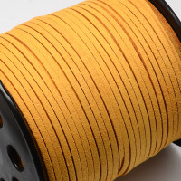 Faux Leather Suede Beading Cord, Goldfish Orange Bulk Roll , 300 Feet (100 Yards)