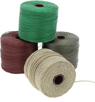 Super-Lon Cord - Earth Tones Mix - Four 77 Yard Spools /Size 18 Cord