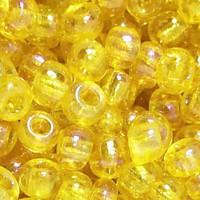 Czech Seed Beads 6/0 Yellow Translucent Iris (1 ounce)