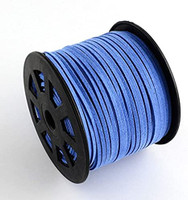 Faux Leather Suede Beading Cord, Cornflower Blue, 3mmx1.5mm (20 feet)