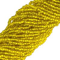 Czech Seed Beads 11/0 Yellow Silver Lined (1 Hank)