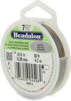 "Beadalon 7-Strand 0.015""  30 ft  Bright Bead Stringing Wire"