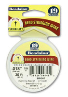 "Beadalon 19 Strand 0.018""  30 ft  Bead Stringing Wire Bright"