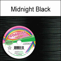 "Soft Flex Econoflex Beading Wire 010"" 30 Ft  Midnight Black"