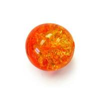 Czech Glass Druk 8mm Round Crackle Fire Opal (25)
