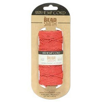 1mm Hemp Twine Bead Cord 20lb test Scarlet Red