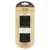 1mm Hemp Twine Bead Cord 20lb test Black