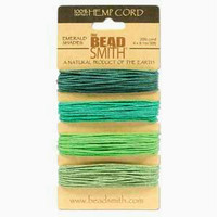 1mm Hemp Twine Bead Cord 20lb test Emerald Shades