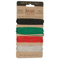 1mm Hemp Twine Bead Cord 20lb test Primary Shades