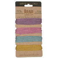 1mm Hemp Twine Bead Cord 20lb test Pastel Shades