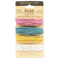 1mm Hemp Twine Bead Cord 20lb test Spring Color Shades