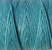 Waxed Irish Linen - 2 ply - Turquoise (10 yds)