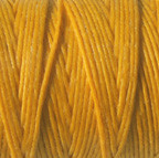 Waxed Irish Linen - 2 ply - Bright Autumn Yellow (10 yds)