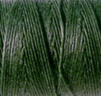 Waxed Irish Linen - 2 ply - Dark Emerald Green (10 yds)