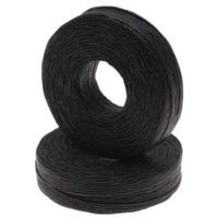 Waxed Linen - 1mm - Black
