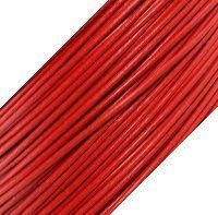 Genuine Leather Cord - 1mm - Round- Red