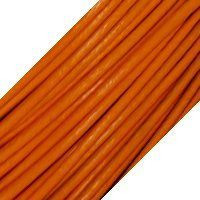 Genuine Leather Cord - 1mm - Round- Orange