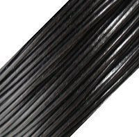 Genuine Leather Cord - 1mm - Round- Black